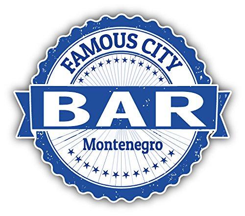 Bar City Montenegro Grunge Travel Stamp Car Bumper Sticker Decal 5  X 4