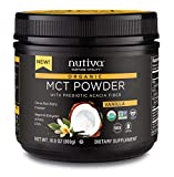 Cheap Nutiva USDA Certified Organic Vanilla MCT Powder with Prebiotic Acacia Fiber, Caprylic and Capric Acids from non-GMO, USDA Certified Organic Fresh Coconuts, 10.6-ounce