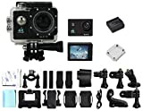 WittyGadget 4K Ultra HD 16-Mp 170 degree Wifi Slowmotion Action Camera Bundle with 20 Pcs Accessory Kit