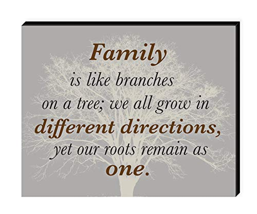 Elanze Designs Family Tree 10 x 8 Wood Print Overlay Wall Art Sign Plaque