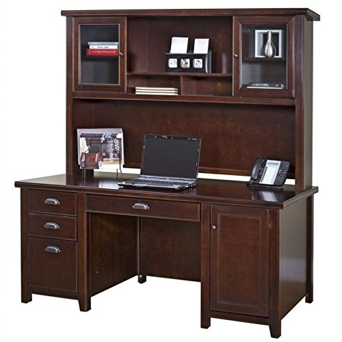 kathy ireland Home by Martin Tribeca Loft Cherry Hutch - Fully Assembled by Martin Furniture