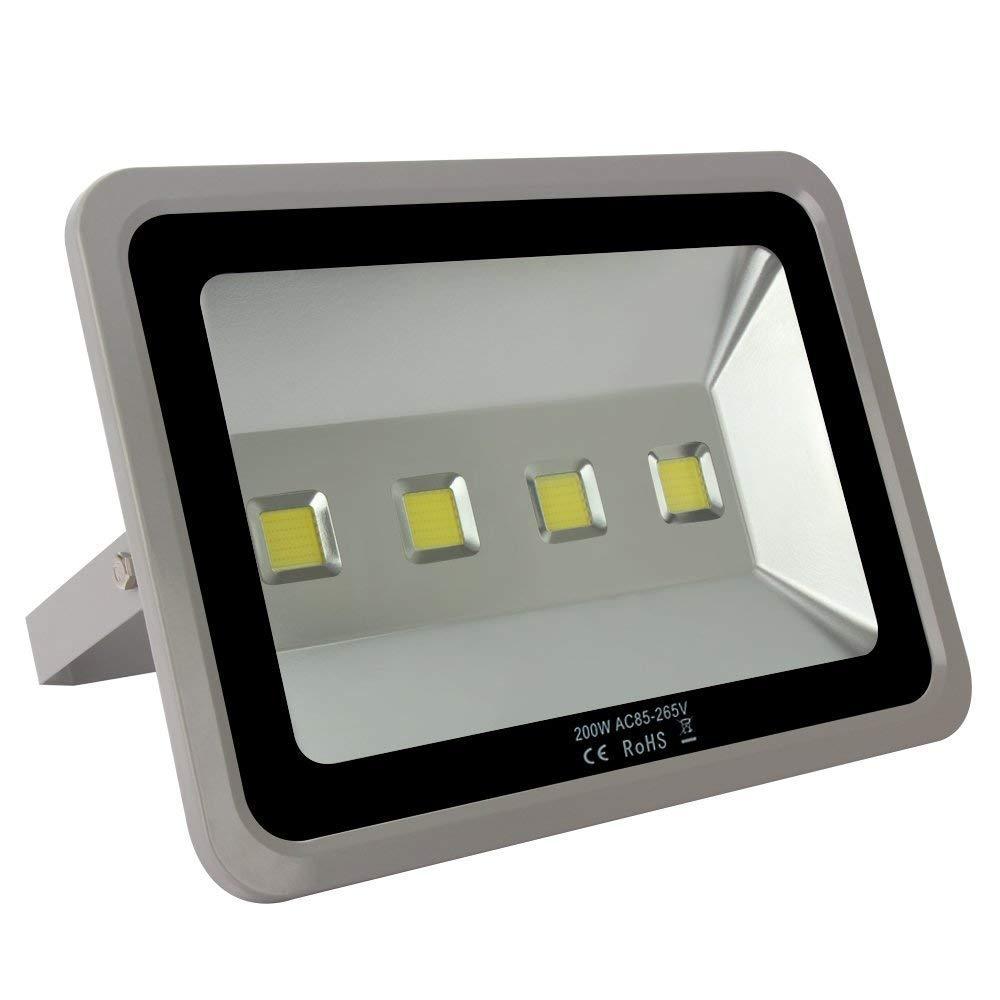 LAPUTA Brightest Indoor Outdoor 4 LED 200W Watt High Power 20000lm Cool White Led Flood Lights Security Spotlights Waterproof IP65 For Garden Landscape 85V-265V