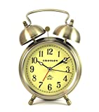 Timelink Crosley Vintage Twin Bell Alarm, Bronze