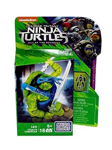 Teenage Mutant Ninja Turtles Out of the Shadows Leo Stealth Mega Bloks, 18 Pieces