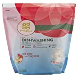 Grab Green Natural Automatic Dishwashing Detergent Pods, Red Pear with Magnolia, 132 Loads