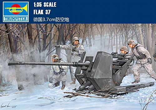 German 3.7 cm Flak 37 Anti-Aircraft Cannon 1/35 Tank Trumpeter Model kit 02310