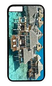Sea villas houses PC Black Hard Case for Apple iPhone 6(4.7 inch)