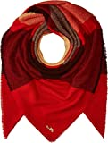 COACH Women's Oversized Plaid Blanket Scarf 1941 Red Multi One Size