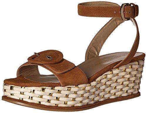 Stuart Weitzman Women's MAKEITSO Wedge Sandal, Camel, 7.5 M US