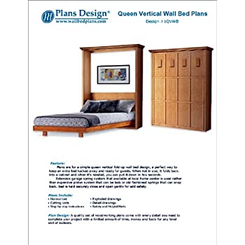 Murphy Full Vertical Wall Bed Woodworking Plans Hardware And