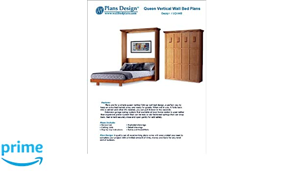 Murphy bed plans Twin Size Murphy Mission Style Queen Vertical Wall Bed Woodworking Plans Patterns 1qvwb Amazoncom Spechtimmobilienserviceinfo Murphy Mission Style Queen Vertical Wall Bed Woodworking Plans