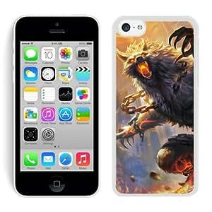 smite wolf animal castle art White Cool Customized Design iPhone 5C Case