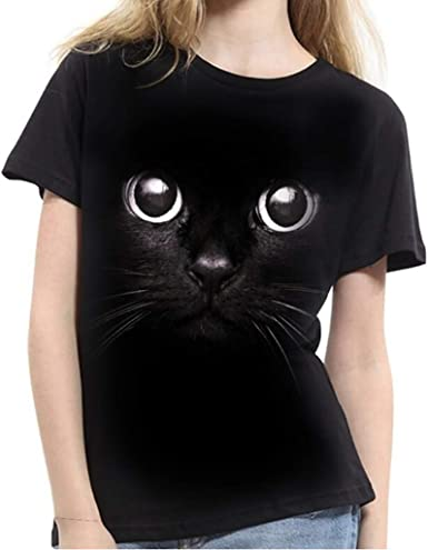 Peeking Cat Digitally Printed White Ladies Fitted T-Shirt