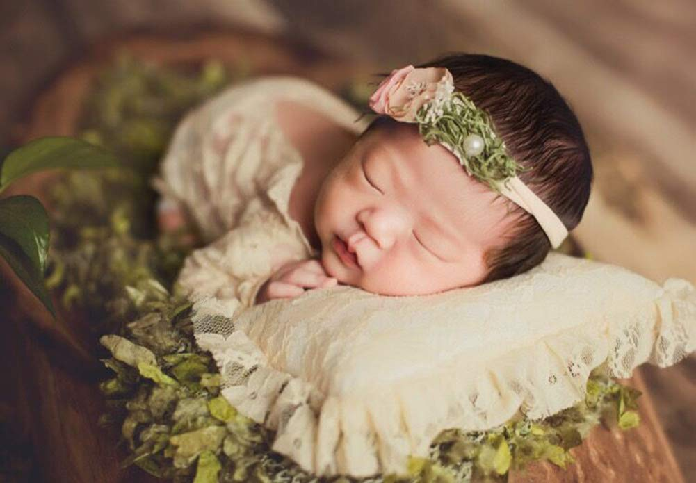 iSpchen Newborn Baby Photography Props Boy Girl Photo Lace Princess Costumes Outfits Rompers Set Birthday Gift Baby Clothes White