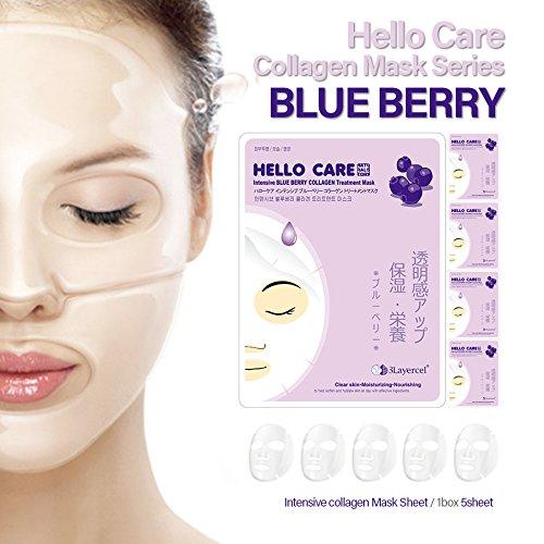 8 opinioni per [HelloCare] 5pezzi intensivo MIRTILLO COLLAGENE trattamento, viso Fogli Mask