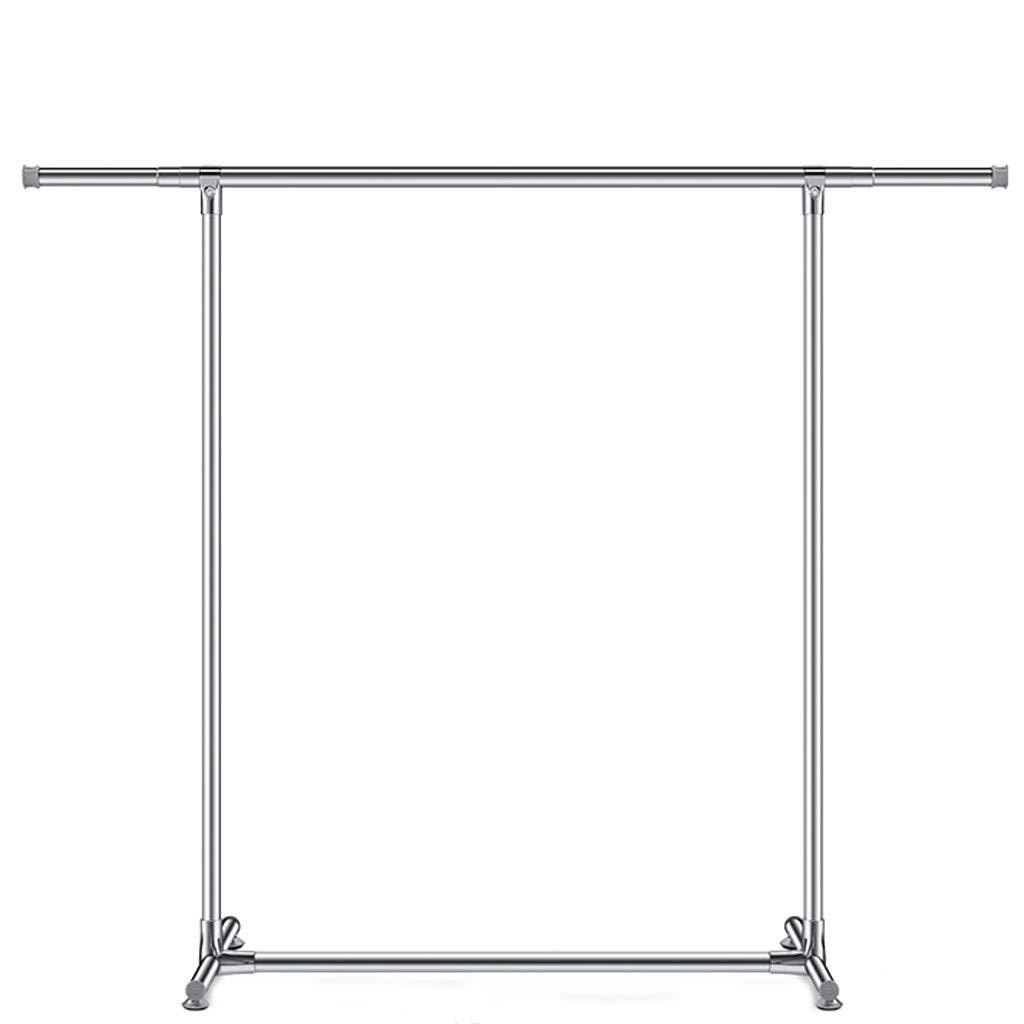 ZXW 乾燥ラック- 家庭用単極ステンレス鋼折りたたみテレスコピック乾燥ラック、ベッドルームハンガーバルコニー乾燥ラック (色 : シルバー しるば゜, サイズ さいず : 150x247cm) B07KPL3SSH シルバー しるば゜ 150x247cm