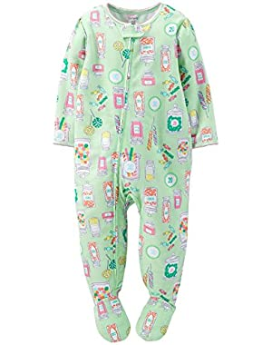 Baby Girls' Print Footie (Baby) - Candy Jars - 18 Months