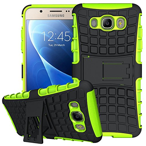 K-Xiang J7 Case,Galaxy J7 Case(2016 Version), (Armor Series) Heavy Duty Protection Hybrid Shockproof Dual Layer Protective Case Cover with Stand for Samsung Galaxy J7 (J7(2016) Green)