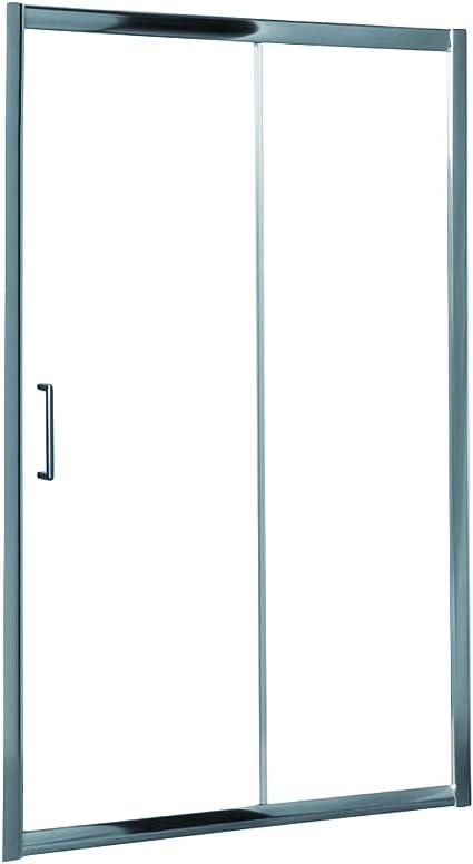 Mampara de Ducha MODULAR Frontal Sencilla - 1 Hoja FIJA + 1 Hoja CORREDERA. Con Tratamiento EASY-CLEAN. (170 cm, TRANSPARENTE): Amazon.es: Bricolaje y herramientas