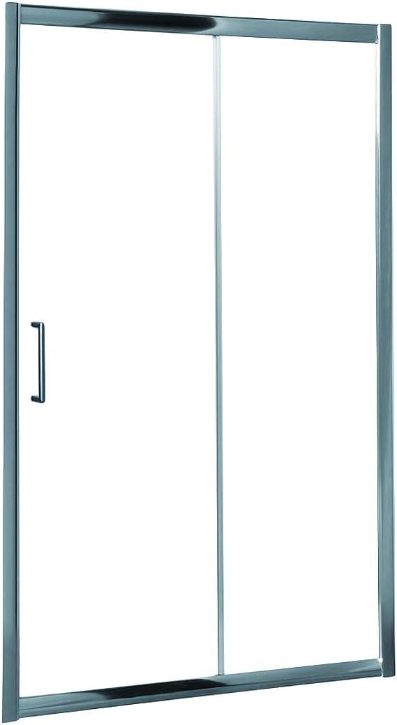 Mampara de Ducha MODULAR Frontal Sencilla - 1 Hoja FIJA + 1 Hoja CORREDERA. Con Tratamiento EASY-CLEAN. (120 cm, TRANSPARENTE): Amazon.es: Bricolaje y herramientas
