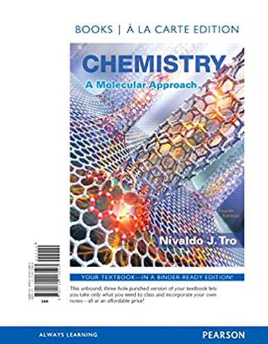 chemistry a molecular approach books a la carte edition 4th rh amazon com Tro Chemistry Solutions Manual Tro Chemistry Solutions Manual