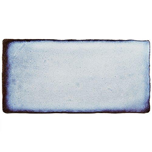 "50%OFF SomerTile WCVAFV Antigue Feelings Via Lactea Ceramic Wall Tile, 3"" x 6"", Blue/Brown"