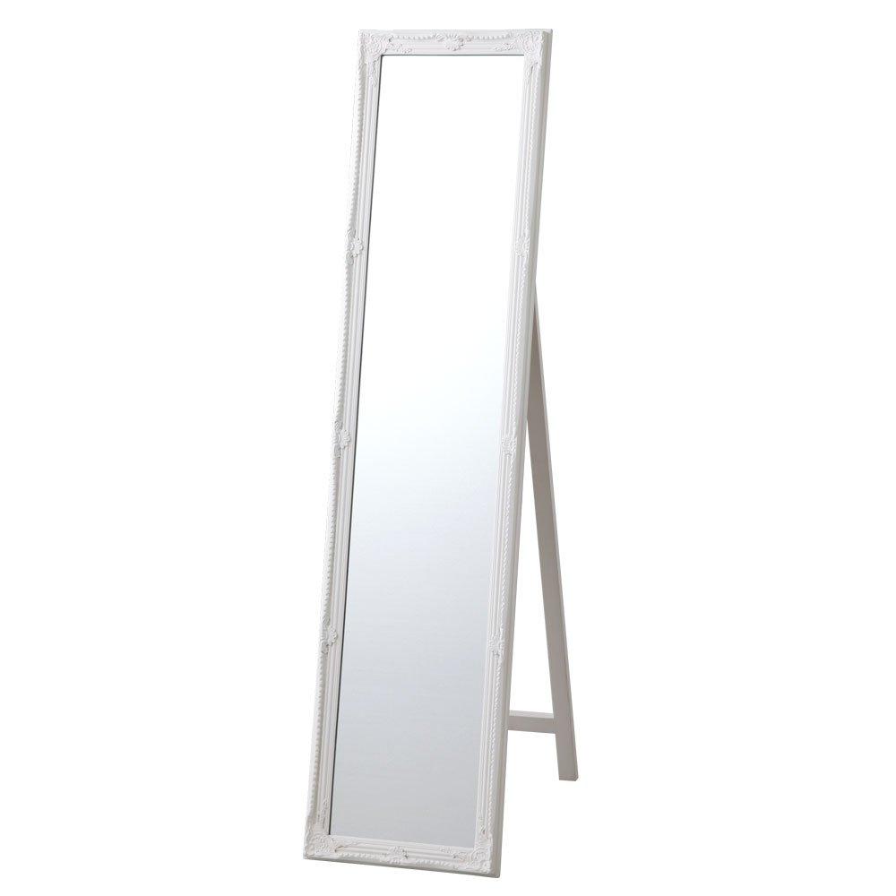大型 全身鏡 飛散防止 スタンドミラー 全身 鏡 おしゃれ 大きい 姿見 ビッグ ミラー かがみ ホワイト B00UYSRLOQ お客様にて設置|ホワイト ホワイト お客様にて設置