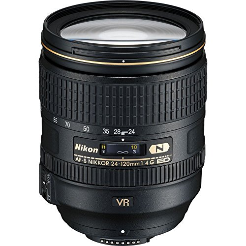Nikon 2193-IV AF-S fx NIKKOR 24-120mm F/4G ED Vibration Reduction Zoom Lens with Auto Focus for DSLR Cameras International Version (No Warranty)