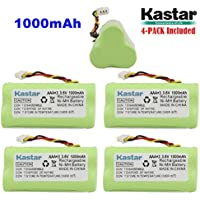 Kastar 4-PACK AAA 3.6V 1000mAh Ni-MH Rechargeable Battery Replacement for Zebra/Motorola Symbol 82-67705-01 Symbol LS-4278 LS4278-M BTRY-LS42RAAOE-01 DS-6878 Cordless Bluetooth Laser Barcode Scanner