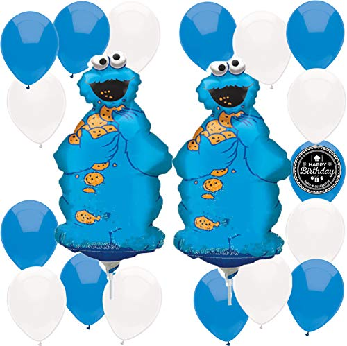 Sesame Street Cookie Monster Balloon Wall Decoration Bundle -
