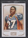 2009 Topps Mayo Knowshon Moreno Broncos Rookie Football Card #153