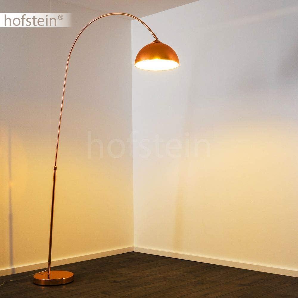 Lampadaire Tipitapa en m/étal cuivr/é//blanc compatible ampoules LED lampe sur pied moderne /à hauteur r/églable et interrupteur sur le c/âble pour 1 ampoule E27 max 40 Watt