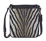 COACH Madison Zebra Print Swingpack Crossbody in Light Gold / Multi 50506