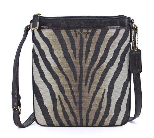 - COACH Madison Zebra Print Swingpack Crossbody in Light Gold / Multi 50506