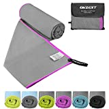 """Microfiber Beach Towel, OKZEST Sports & Travel Towel (XL 70"""" X 35"""") Ultra Absorbent and Quick Dry Towel Lightweight Swimming Towel for Yoga Gym Bath Fitness Camping"""