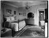 Photo: Bedroom,brass bed,interiors,furniture,mirrors,Detroit Publishing Company,1900