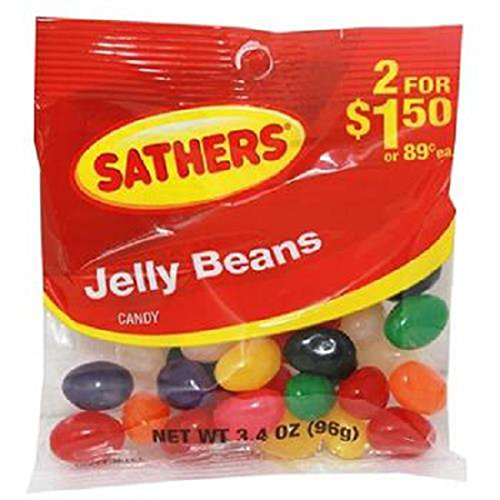 (Product Of Sathers, 2/$1.50 Jelly Beans, Count 12 (3.4 oz) - Sugar Candy / Grab Varieties & Flavors)