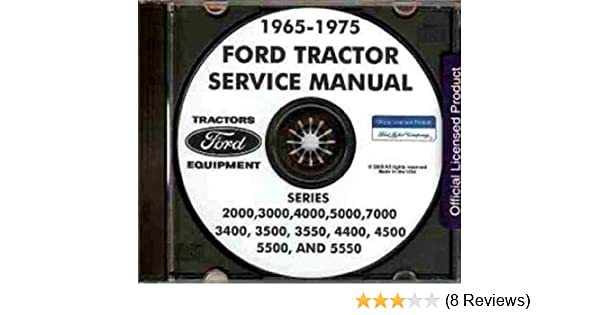 1965 1975 ford tractor repair shop manual 2000 3000 4000 5000 rh amazon com