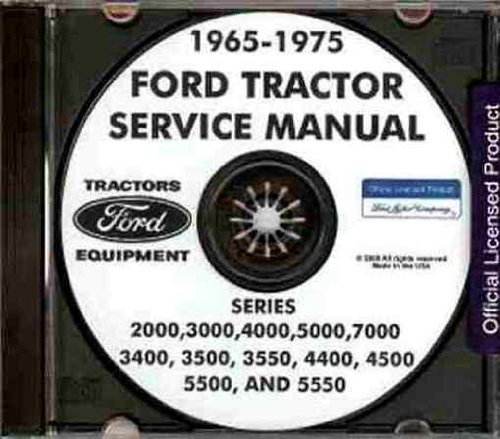 1965-1975 Ford Tractor Repair Shop Manual 2000, 3000, 4000, 5000, 7000 CD-ROM (Print 5550)