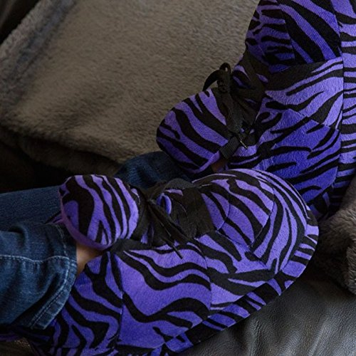 Sleeper'z – Chaussons imprimé tigre violet – Adulte unisexe - Homme et Femme