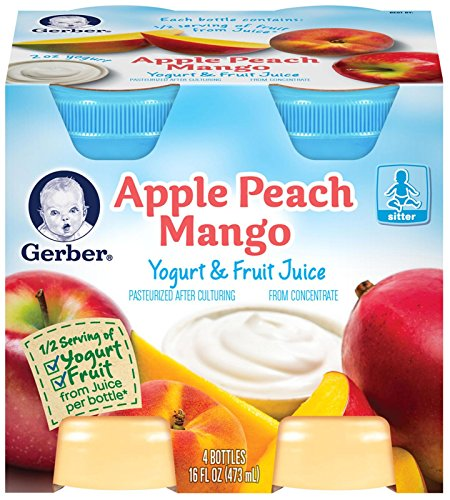 Gerber Juice - Peach Mango Apple - 4 fl oz - 4 pk