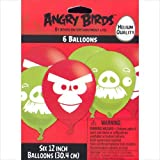 Angry Birds Latex Balloons (6) Party Accessory by Amscan