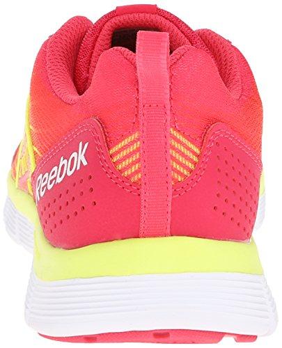 Reebok Femmes Z Double Course De Course De Chaussures Flamboyant Rose / Solaire Jaune / Blanc