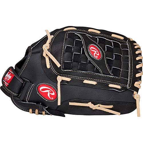 Rawlings RSB Slow-Pitch Softball Glove, Black, 14