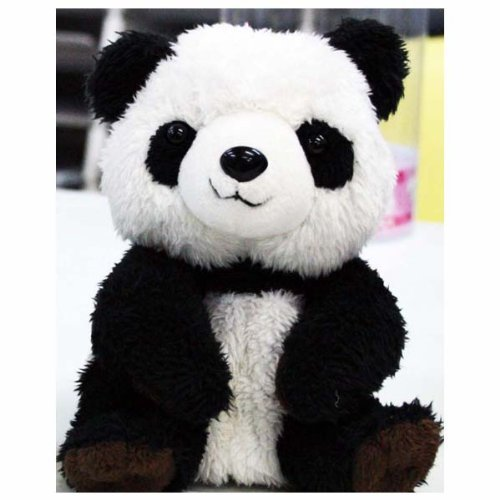 Talking Plush serious brother with Panda imitate angel (japan import) by Fuji