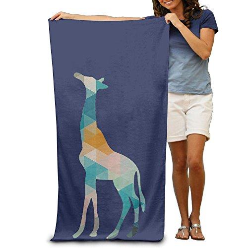 Sakanpo Bath Towel - Colorful Geometric Giraffe Quick Dry Large Swim Beach Towels ()