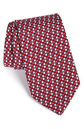 Vineyard Vines Men's Ball & Chain Silk Tie. (Red)