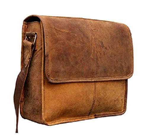 Tuzech 13L Genuine Buffalo Leather bag Handmade/Satchel/Messenger/Unisex/Half Flap/Shoulder Bag by Tuzech