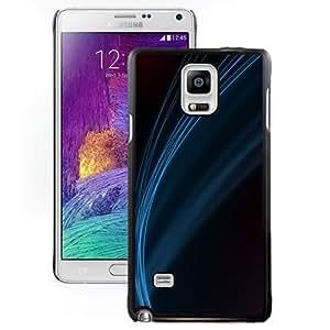 Blue Line Minimalistic Hard Plastic Samsung Galaxy Note 4 Protective Phone Case