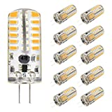 led bi pin bulbs - KINGSO G4 LED Bulb 10 Pack 3W Bi-Pin LED Light Bulb 48×3014 SMD 20W Halogen Bulb Equivalent Silicone Coated Shatterproof 220 Lumens 360° Beam Angle AC/DC 12V - Warm White